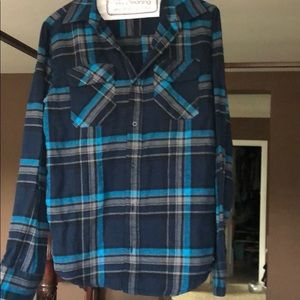 Boys Tony Hawk flannel shirt